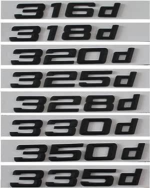 Gloss Black 320d Car Badge Emblem Model Numbers Letters For 3 Series E36 E46 E90 E91 E92 E93 F30 F31 F34 G20