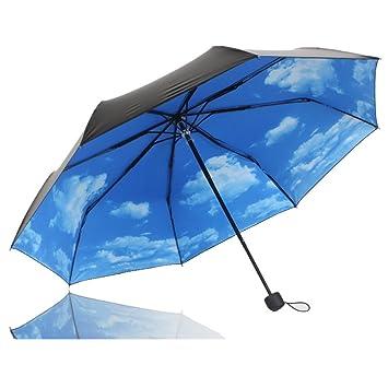 Regenschirm xagoo reisen winddichtes regenschirm sunny sky regen ...