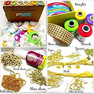 GOELX Silk thread jewelery-making fully loaded box with all accessories