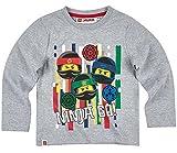 Lego Ninjago Kollektion 2017 Langarmshirt 98 104 110 116 122 128 134 140 Shirt Jungen Neu Top Grau (98 - 104, Grau)