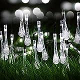 Berocia Impermeabile Illuminazione Interni Giardino Esterno Solare LED 6.5 Metro 30 LED Catene Luminose Luci da Esterno per Festa Natale Halloween Matrimonio Balcone (bianca)