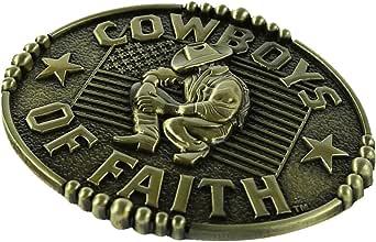 Adult Mens Womens Cowboy Design Belt Buckles, Novelty