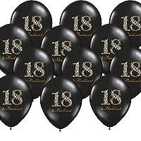 12 xBalloons, 18th Birthday, black, brilliant party decoration, Kleene