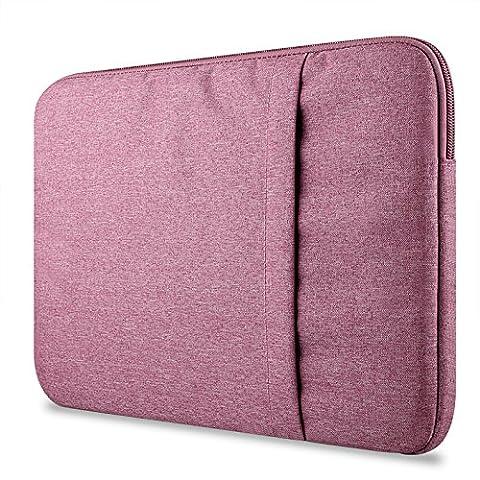 Crisant Premium Sleeve Housse pour ordinateur portable 11-11.6 pouce,Nylon Antichoc Notebook Computer Briefcase Sacoche / Tablette Étui Cover Pour Apple Macbook Air 11.6'' / Macebook Retina 12.0'' / Asus Zenbook / Lenovo / Samsung / Dell / HP / Acer / Sony / Chromebook (Rouge)