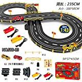 Babytintin Slot Car Set with Racing Assistant High Speed Track Racing Set (A)