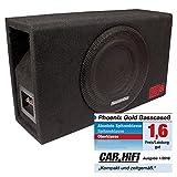PHOENIX GOLD BASSCASE8 20cm 200W Subwoofer-Bass-Reflex Box (Frequenzgang: 20-200Hz/4 Ohm Einzelschwingspule)