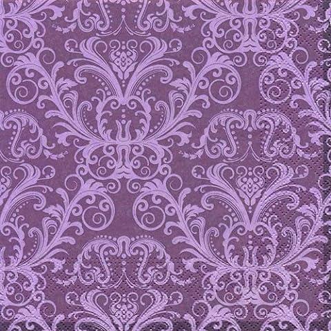 20 Servietten Ornament purple - Lila Ornamente / Muster