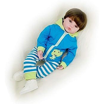 64ac3ba3c71a7 Yesteria Bambola Rebron Maschio Realistico Bambino Silicone Giacca Blu 60 cm