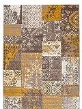 Carpeto Flat Woven Rug Vintage Patchwork Pink Carpet 4