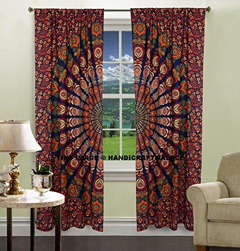 Mandala Indian cotton peacock hippie Tapestry Door Decor Cutain window curtains drape curtain