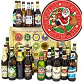 Santa Frohe Weihnachten / 24 Biere der Welt und DEU/Geschenk Weihnachten Mann