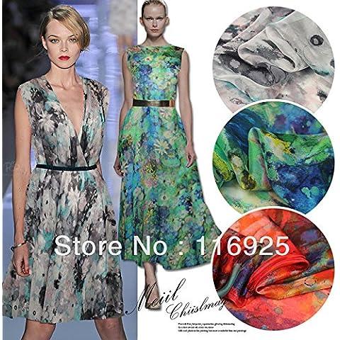 Nuovo vestito elegante Grazia Primavera chiffon di seta e tessuto sciarpa
