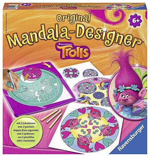 TROLLS - Mandala-Designer, Juego Creativo (Ravensburger 29902)
