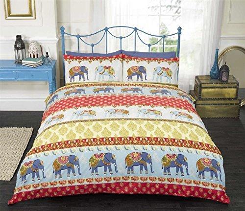 Elefante indiano oro rosso blu doppio misto