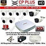 #9: CP PLUS 8 HD CCTV Cameras and 8Ch. HD DVR Kit with 2 TB Hard Disk + all Accessories