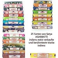 Satya Nag Champa Agarbatti Räucherstäbchen 25 Sorten je 15g Packung vertrieb von ABAV (Paolo Santo) preisvergleich bei billige-tabletten.eu