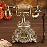 Telefon Continental rotierende Scheibe antikes Telefon Festnetz-Telefon Mode kreativ Retro-Telefon Telefon (reguläre Ausgabe, Version Lautsprecher, Freisprechfunktion mit Hintergrundbeleuchtung Version, Wählscheibe Version) Verkabeltes Telefon ( Farbe : Regular Edition )
