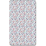Image of 100% COTTON FITTED SHEET WITH PRINTED DESIGN FOR BABY JUNIOR BED 160x70CM (Marine) - Comparsion Tool