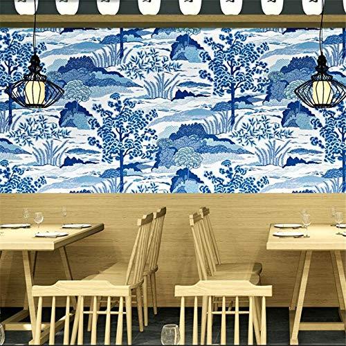 Lxsart Tapete Japanische Dekoration Stil Persönlichkeit Japanisches Essen Ramen Sushi-Shop Welle Coffee-Shop Tapete-350cmx245cm