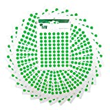 2,100 Easy Peel Self Adhesive Sticky Dots from Ivy - 8mm - Matt Green [232701]