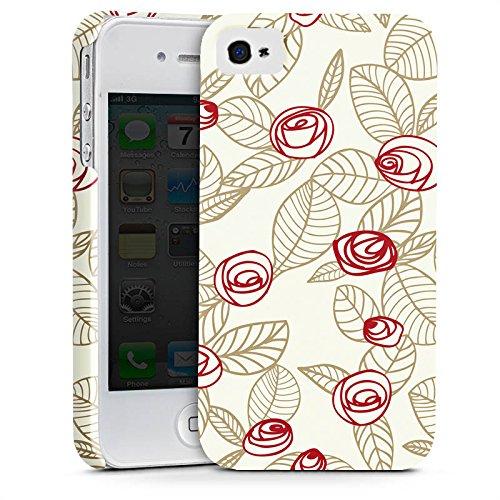 Apple iPhone X Silikon Hülle Case Schutzhülle Rosen Blumen Blätter Premium Case glänzend