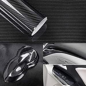 5d Hochglanz Carbon Folie Klebefolie Blasenfrei 3d Formbar Luftkanaltechnik Carbonfolie 30 X 150 Cm Auto