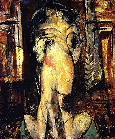 Woman With Raised Shoulders - By Alfred Henry Maurer - impressions sur toile 24x29 pouces - sans cadre