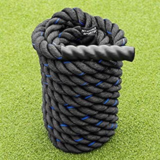 Net World Sports 9m Battle Rope – 4cm Thick, Premium Quality Weighted Gym Rope for Fitness, Strength Training, CrossFit and More
