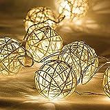 Dailyart? 13.8ft 40 Leds de luz cadena, en interiores, decorar para la Navidad, boda, Halloween, el día de San Valentín-operación de la batería (Blanco Cálido)