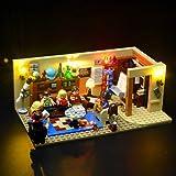 BRIKSMAX Kit de Iluminación Led para The Big Bang Theory-Compatible con Ladrillos de Construcción Lego Modelo 21302-Juego de