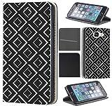 Samsung Galaxy S4 Mini Hülle von CoverHeld Premium Flipcover Schutzhülle Flip Case Motiv (352 Abstract Schwarz Weiß)