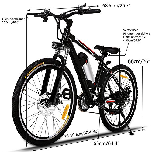 ANCHEER Elektrofahrrad 26 Zoll E- Bike Bild 3*