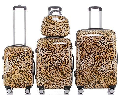 Leopard - Trolley Koffer, Wahlweise: Set 4-teilig, Trolley-XL, L, M, Beauty-Case (Set)