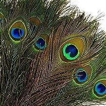 "awtlife 48x 10–12""ojo de pavo real Natural cola plumas para mesa de boda, artes y oficios, decoración del hogar"