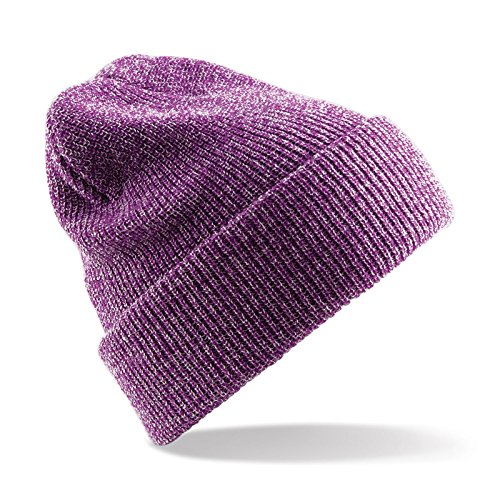 Beechfield - Heritage beanie - Heather Purple - One Size EU / UK (Heritage Heather Womens)