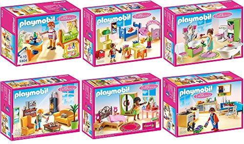 PLAYMOBIL Puppenhaus Möbelset 6er Set 5304 5306 5307 5308 5309 5336