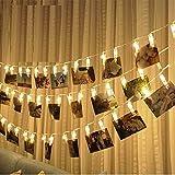 2.2Meter 20 Foto LED clip luci della stringa per appendere quadri e Batterie Powered per San Valentino, Natale, compleanno, Party, Matrimonio bianco caldo
