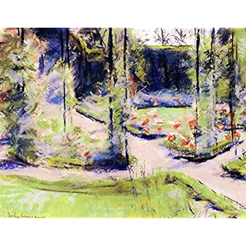 Rose Arbor In The Wannsee Garden - By Max Liebermann - Impresión en lienzo 28x22 pulgadas - sin