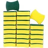 esafio 24pcs Estropajo Mágicas, Esponjas de Limpieza, Doble Cara para Eliminar Las Manchas,Esponjas de Limpieza Multiusos par