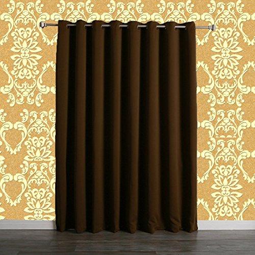 Zhihong breiter Verdunkelungsvorhang, wärmeisolierend,Antik-Bronze-Ösen, (Ideen Window Covering)