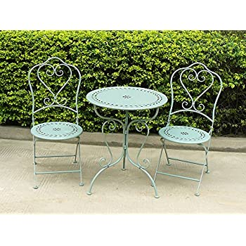 Bistro Set Garden Furniture Table and Chairs Shabby Style ...