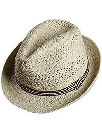 b37cab37844 Westeng Straw Hat Men Women Beach Sun Hat Summer Sun Protection Jazz Linen  Straw Cap