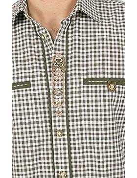 orbis Textil Trachtenhemd Halbarm Oliv