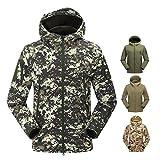XD-Camo windproof coquille souple imperméable à l'eau plein air BBC Andes veste-hommes respirant sport alpinisme , green camouflage , xxxl