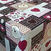 Wachstuch Tischdecke abwaschbar Love pink eckig rund oval C146061