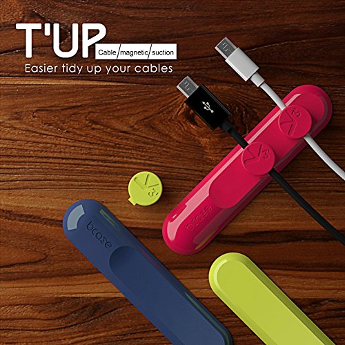 Kabelclips , Fozela Kabelclips und Kabelmanagement mit magnetischer Design, Magnet Wire Kabel Clip Smart Organizer (Grün)