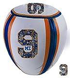Mz9Speed Balle rebond murale Ballon de rugby-Match Poids d'exercice d'entraînement fitness des ombres d'entraînement-Blanc/Orange/Bleu