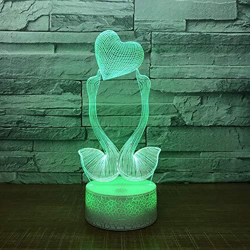 Luce Notturna 3D Illusione Ottica Led Lampada Cigno Interruttore Tattile Cambio 7 Colori Lampada Da Letto Per Camera Da Letto Per Bambini, Regali Per Feste Di Compleanno Per Bambini