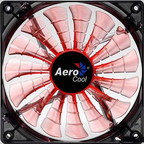 Aerocool SharkFan Lüfter orange, Evil Black Edition(140x140x25)