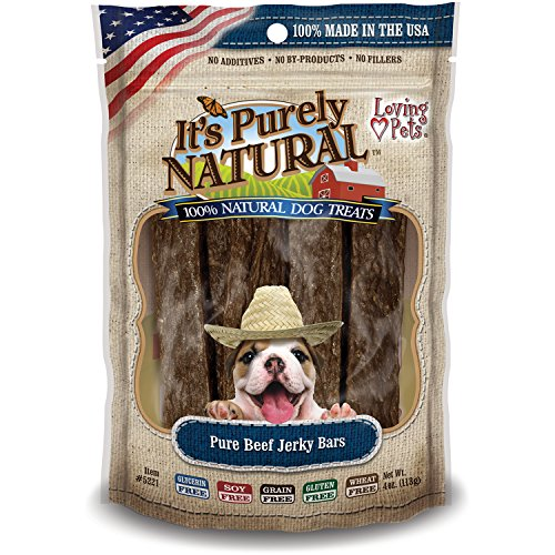 Preisvergleich Produktbild It's Purely Natural Treats 4oz-Beef Jerky Bars